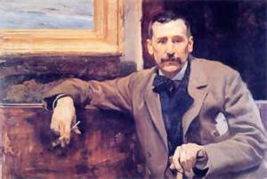 Benito Pérez Galdós pintado por Joaquín Sorolla